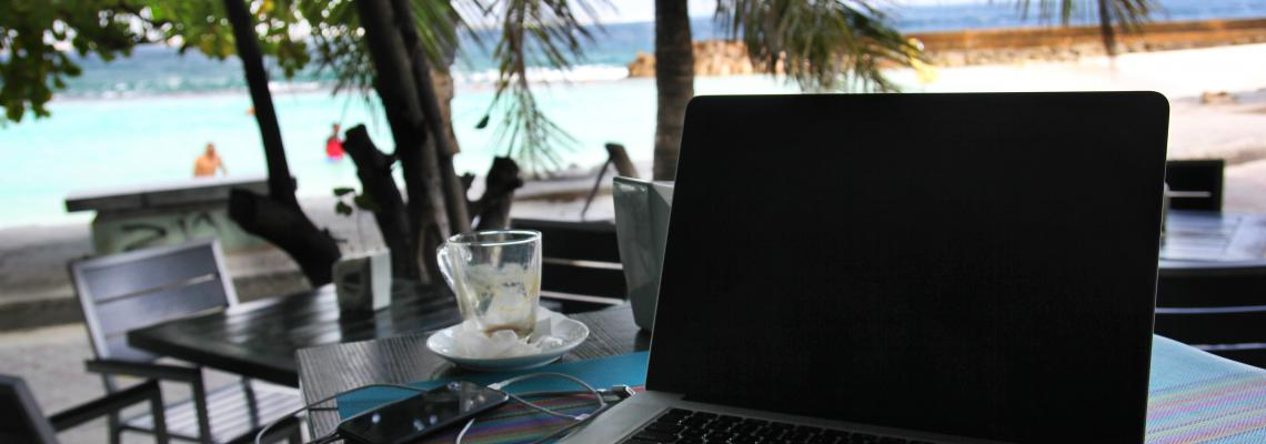 Digital nomad life in the Maldives