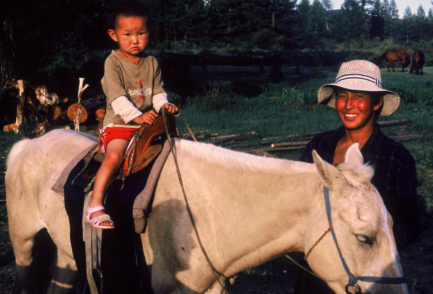 Kids learn to ride very early on, as they are in charge of breaking young horses.